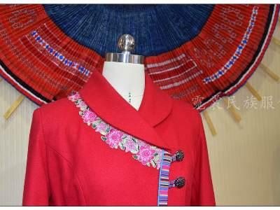 民族风服装批发彝族大衣民族工作服装
