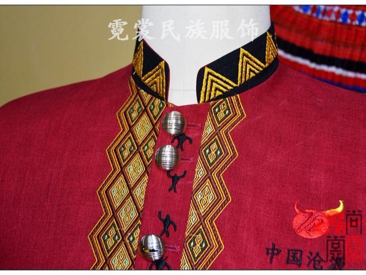 少数民族服饰佤族商务礼仪男装