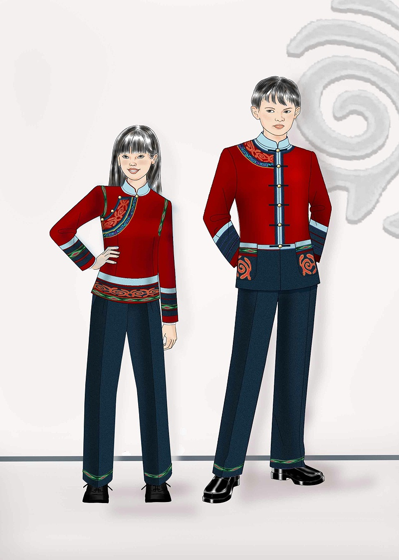 民族校服设计
