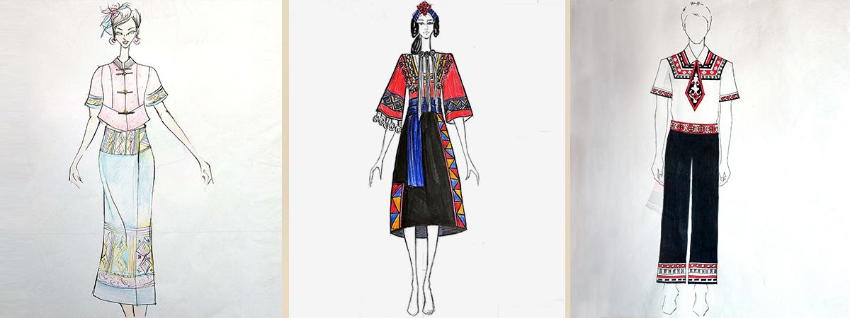 时尚民族风时装设计