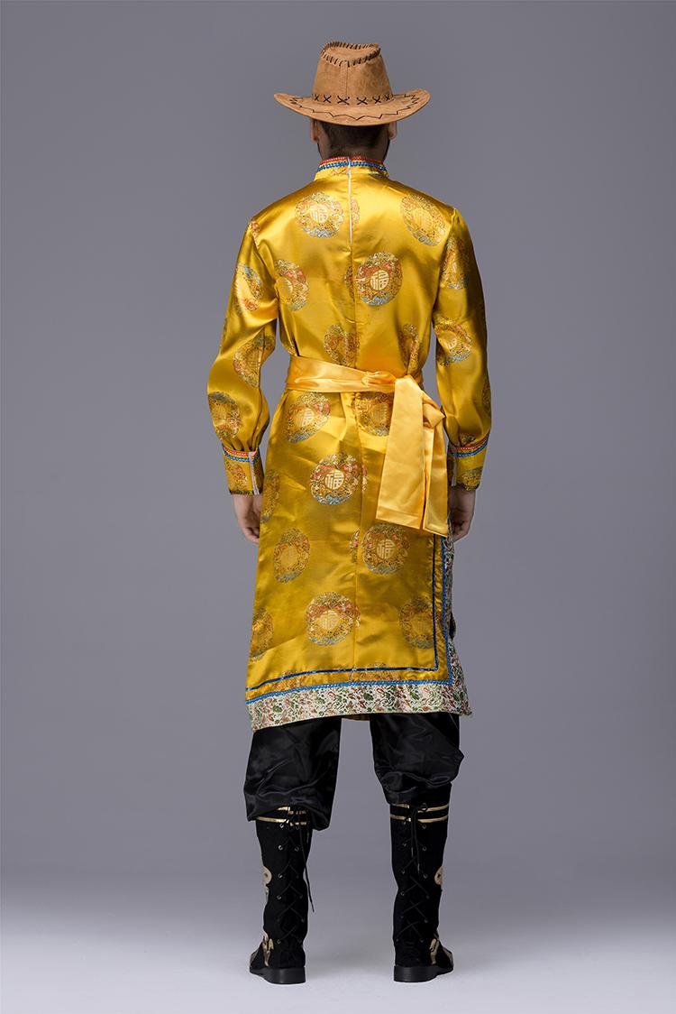 蒙古族袍服男服装图片5