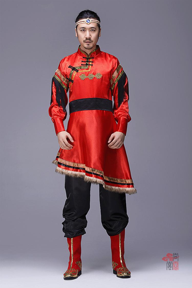 蒙古族服装男装袍子1