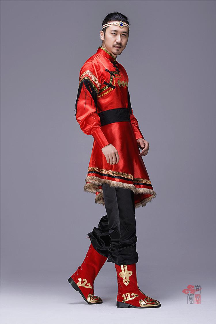 蒙古族服装男装袍子2