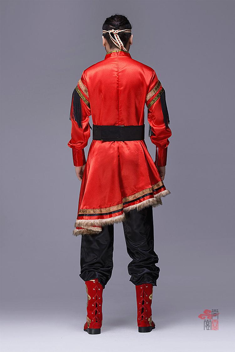 蒙古族服装男装袍子3