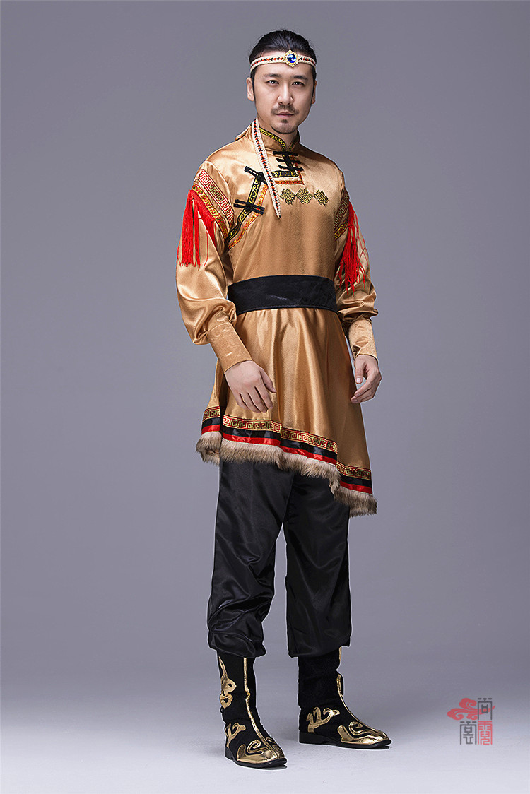 蒙古族服装男装袍子4