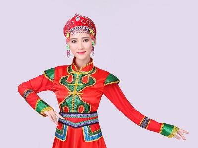 民族服装图片,蒙古族服装男女款