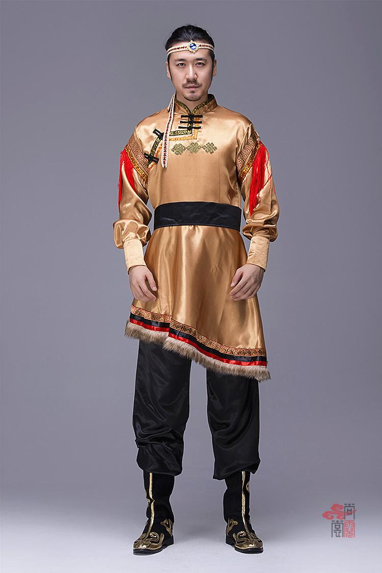 蒙古族服装男装袍子5