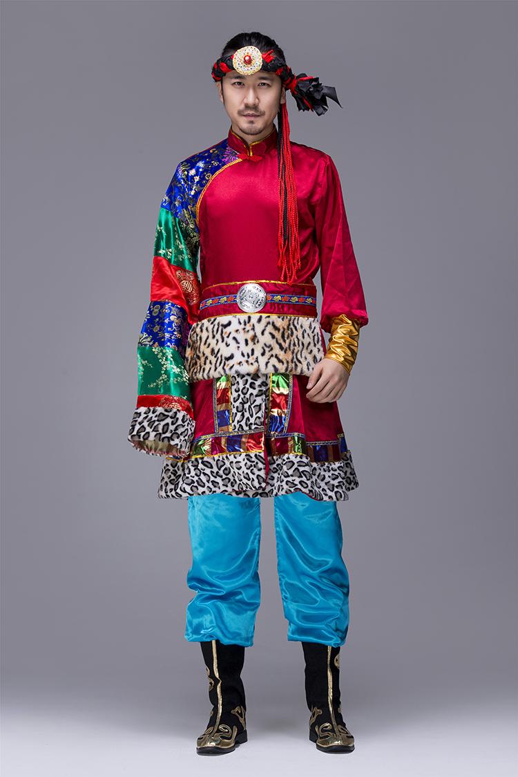 蒙古族男服装表演服