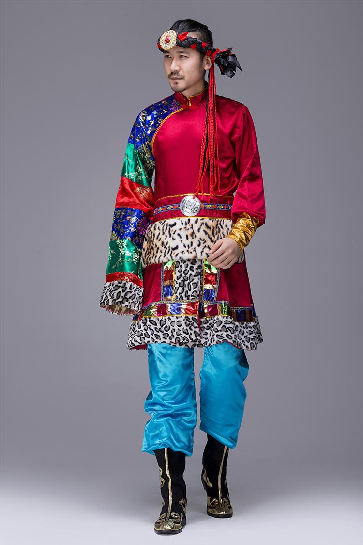 蒙古族男服装表演服2