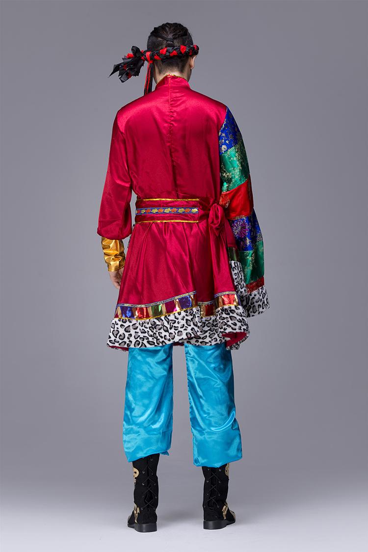 蒙古族男服装表演服3