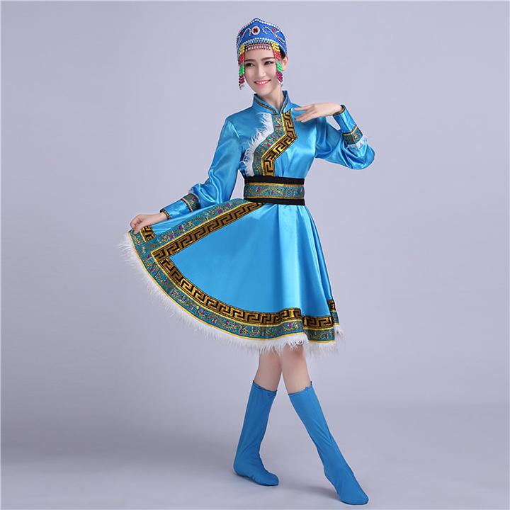 蒙古族女装图片2
