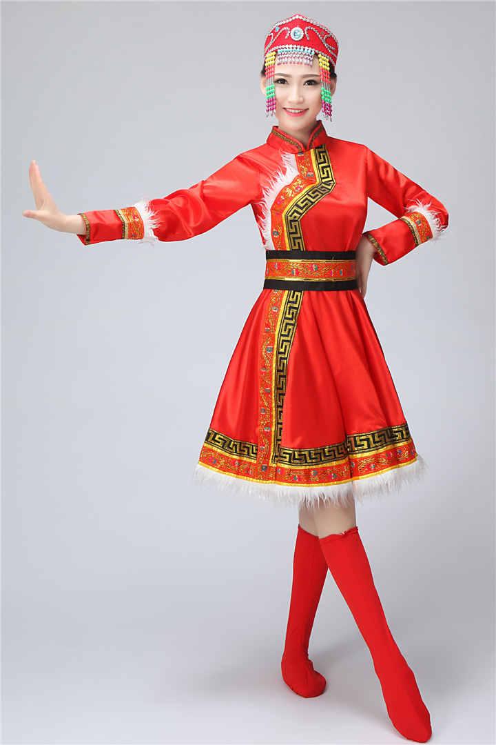 蒙古族女装图片3