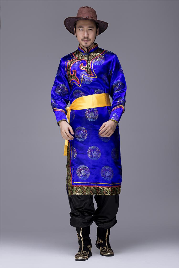 蒙古族袍服男服装图片