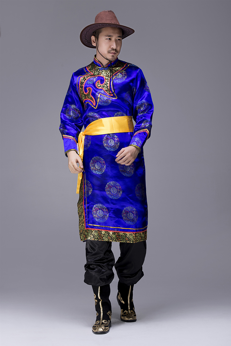 蒙古族袍服男服装图片1
