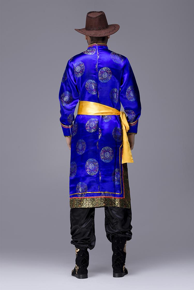 蒙古族袍服男服装图片2