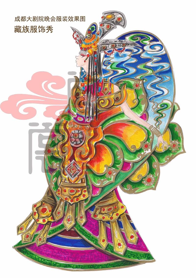 中国民间民族舞蹈服装设计