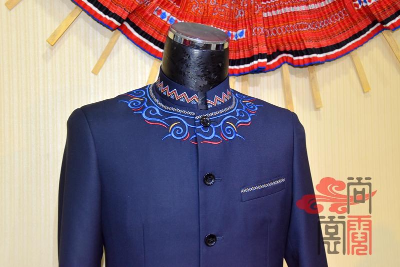 少数民族服饰彝族礼仪商务正装装1