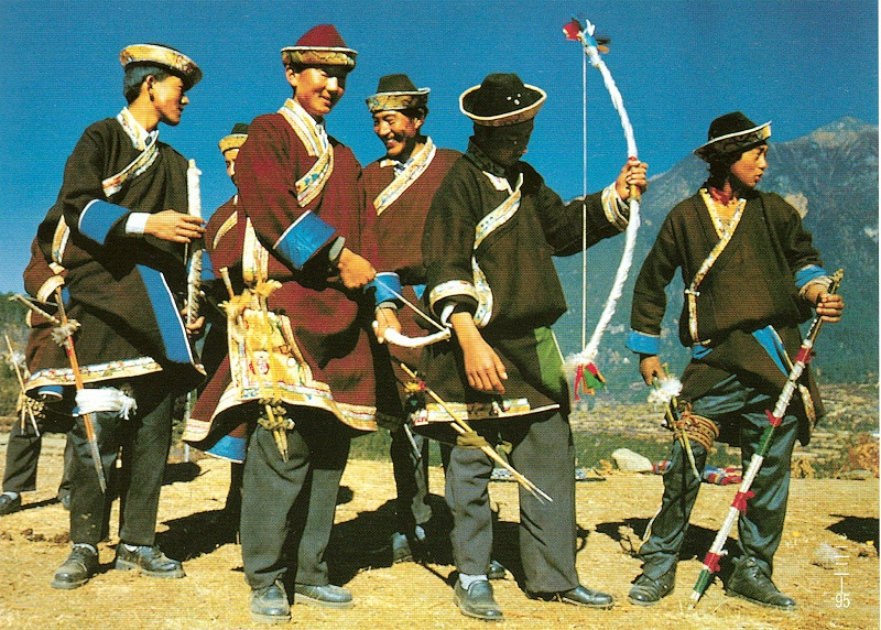 西藏林芝地区藏族服饰