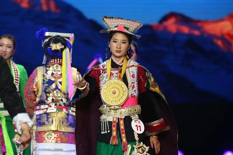2017云南民族服饰赛装文化节藏族服饰藏族