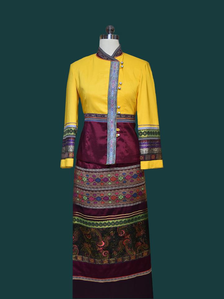 傣族景区特色工作服