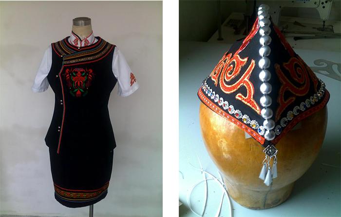 武定罗婺彝寨特色旅游小镇罗婺彝族特色民族工作服装