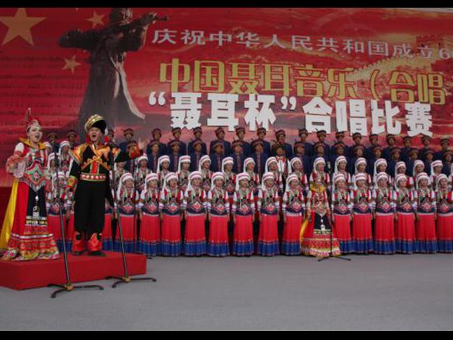 聂耳音乐周大型合唱表演舞台演出民族服装定制