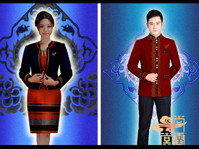 临沧市沧源佤族自治县民族特色政务公务员商务工作服案例