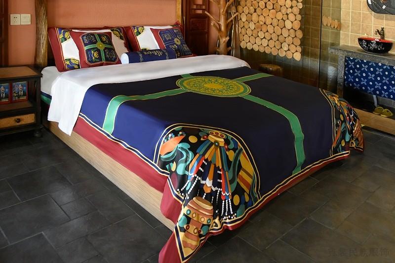 藏族文化创意酒店民宿床上用品