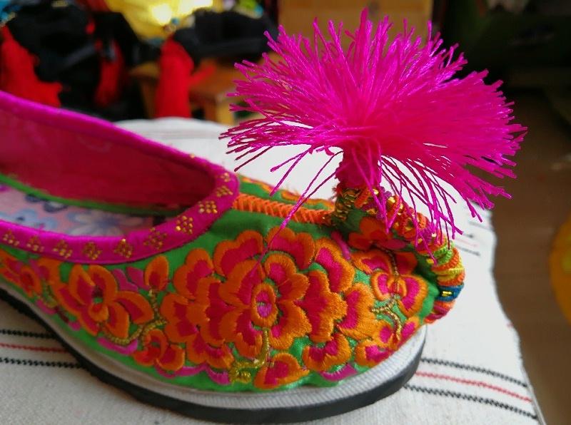 罗鹫刺绣鞋