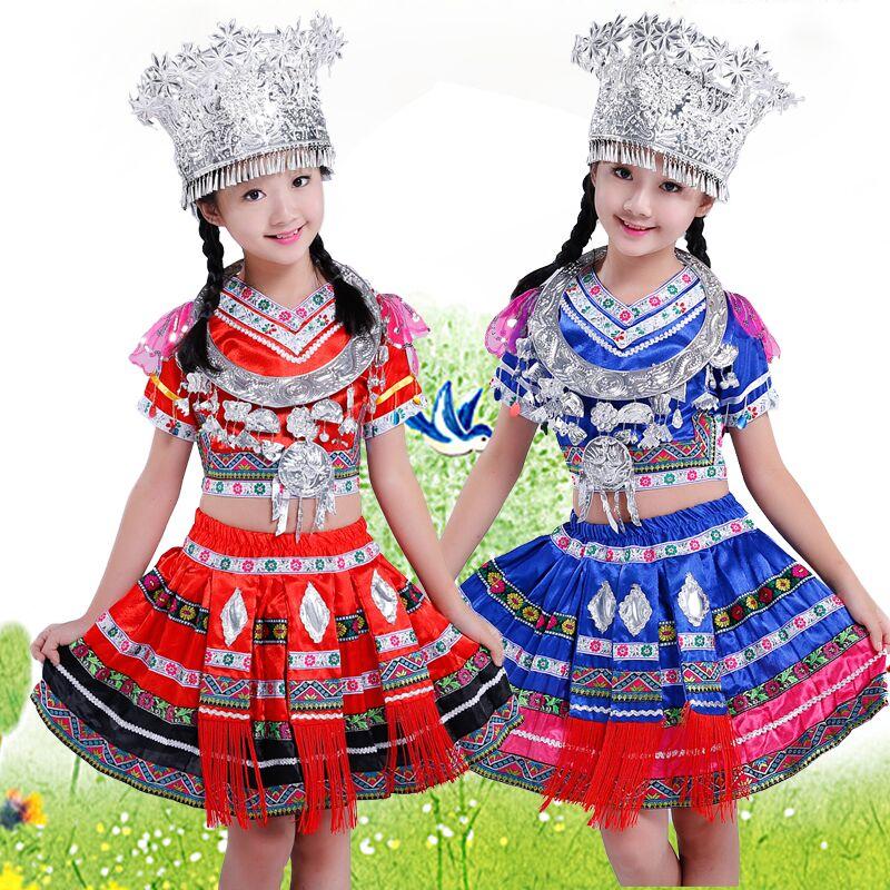 儿童苗族服装图片裙子款