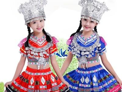 苗族少数民族服装儿童服装图片