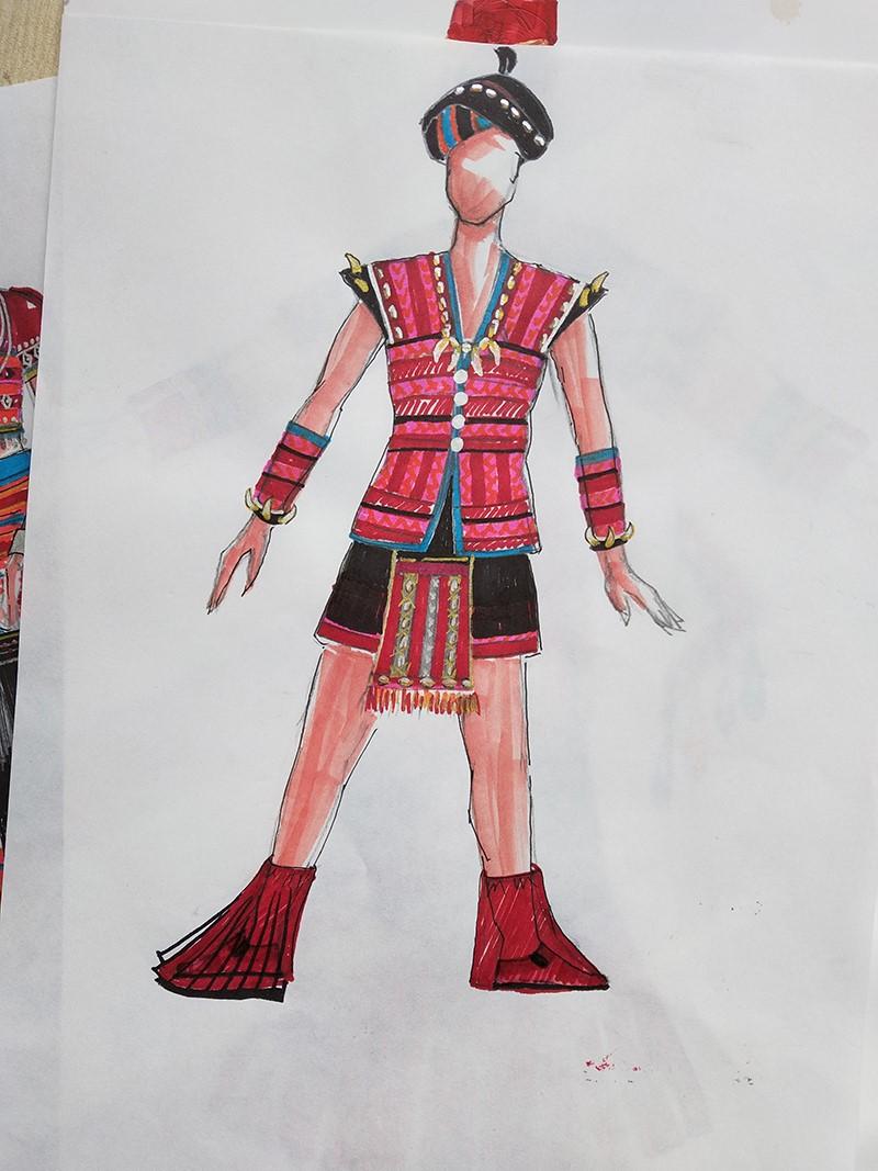 设计的登人男性民族服装