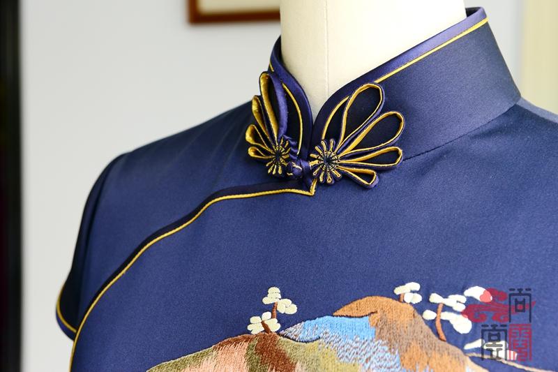 民族风职业旗袍